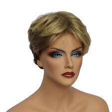 Classic Cap women Synthetic Wavy Short Golden Blonde full wig HengFeng SHL03