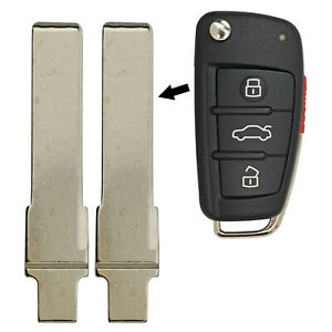 Flip Key Uncut Replacement For Audi FCC NBG009272T Pair