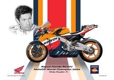 Print on Canvas Honda RC211V 2006 #69 Nicky Hayden (USA) World Champion #2/6