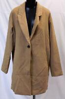 boohoo Women's Wool Look Coat SV3 Camel Size US:8 UK:12 NWT