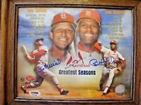 STAN MUSIAL/BOB GIBSON AUTOGRAPHED 8/10 GREATEST SEASONS PSA/DNA