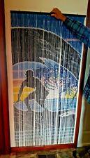Wall or Door Hanging SURFER Bamboo Bedroom, Dorm, Shoji Handmade Curtain