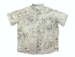 "Columbia Men 2XL 56"" Horn Mesa Camouflage Short Sleeve Button Mesh Shirt Camo"