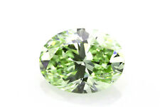 1.01ct Green Diamond - Natural Loose Fancy Yellow Green Color GIA Oval SI1