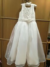 RJR.John Rocha Flower Girl Dress White Age 8 butterfly floral embroidered