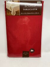 New Red Fabric Tablecloth 60 X 102 Fits Oblong /Oval Table - Bed Bath & Beyond