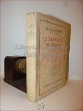1a ediz. LUCIO D'AMBRA, Il Romanzo di Abbazia 1937 Mondadori firma Pia Castelli