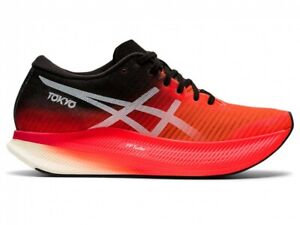 Asics Women Running Shoes Racing Model METASPEED SKY 1012B069 Sunrise Red/White