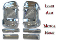 FIAT DUCATO PEUGEOT BOXER CITROEN  Door Wing Mirror Casing Cover Chrome LONG ARM