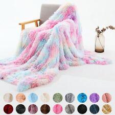 Luxury Super Soft Warm Cosy Fluffy Blanket Bed Throw Sofa Fleece Blanket Gift