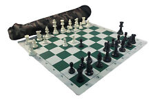 "ARMY GREEN QUIVER COMBO : Chess Board, Bag, & 3 3/4"" King Pieces - FREE SHIP"