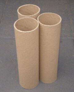 3 PAPPROLLEN PAPPRÖHREN PAPPHÜLSEN D=80mm ca.30cm PAPPROLLE PAPPROHR PAPPHÜLSE