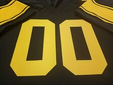 #00 Pittsburgh Steelers Football Jersey Name&Number SEWN-ON.4XL,5XL 6XL 7XL,3XL