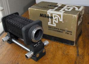 NIKON PB-5 Bellows Focusing attachment in box  Macro  PB5 Light Tight