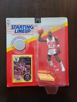 Michael Jordan Bulls 1991 Starting Lineup Dunking SLU w/ 1 Collector Card + Coin
