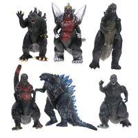6pcs Movie Monster Series Gojira Godzilla Shin Rampage Sofvi PVC Action Figures