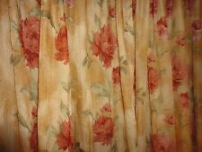 REGAL HOME TUSCAN ROSE FLORAL BURGUNDY GOLD GREEN (PAIR) PANELS CURTAINS 54 X 84