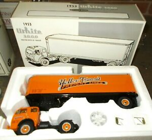 Yellow Transit Freight Lines 1953 White 3000 First Gear Truck