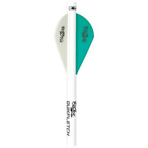Bohning Blazer QuikFletch Shrink Fletch Teal / White 6 Pack #21817 Arrow Quik