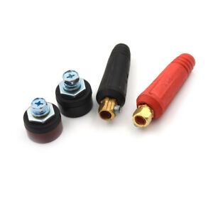 Quick Fitting Plug + Panel Socket Cable Welding Connector 200-400A