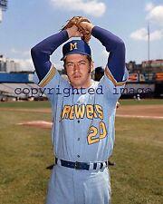 Ken Sanders 1970-73 Milwaukee Brewers Yankee Stadium  Color 8x10 A TOPPS