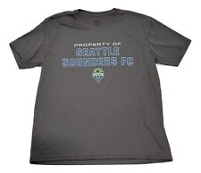 Seattle Sounders FC MLS Soccer Team Logo Performance Microfiber Gray T-Shirt