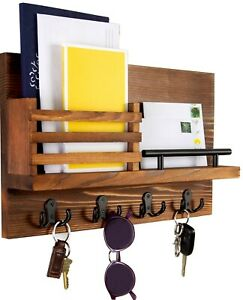 Key Holder and Mail Shelf - Unique Hanging Wall Organizer for House, Entryway