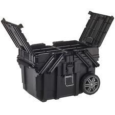 Mobile Werkzeug Box Koffer Wagen Keter Toolbox Teleskopgriff 3 große Fächer NEU