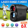 Laser Range Finder 600M 6X Magnification Waterproof Meter Digital Telescope