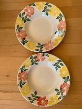 More details for 2 x vintage royal winton wild roses soup bowls hand sponged spongeware