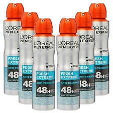 6x 150ml L'Oréal Men Expert 48h Frais Extrême Déodorant Spray Sèche