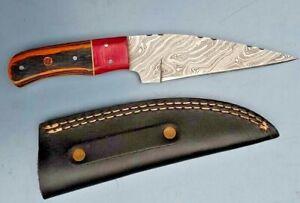MH KNIVES CUSTOM HANDMADE  DAMASCUS STEEL FULL TANG HUNTING/SKINNER KNIFE MH-311