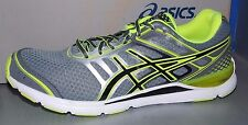 MENS ASICS GEL - STORM  in colors CHARCOAL / BLACK / FLASH YELLOW SIZE 10