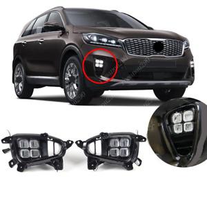 Fit For KIA Sorento L/ LX/ LX V6/ EX V6 2019-2020 LED Front Bumper Fog Light Kit