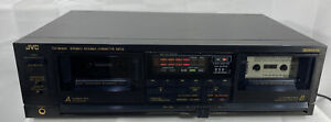 VINTAGE JVC TD-W444 STEREO DOUBLE CASSETTE DECK PLAYER Fully Functional