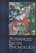 Advanced Social Psychology, Tesser, Abraham, Used; Good Book