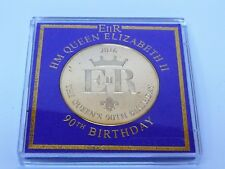 Queen's 90th Birthday Commemorative 22 carat Gold Plated Medallion Scouts