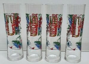 Brand New Desperados 4 x 380ml Hard Plastic Schooner Reusable Glasses