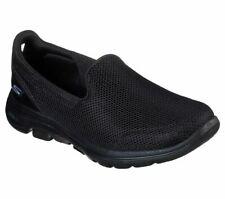 Skechers Go Walk 5 Mujer Negro sin Cordones Gimnasio SPORTS Zapatillas Zapatos