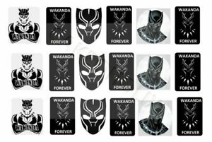 Black Panther on Edible Cake Side Strips or Ribbon on Icing Sheet Paper