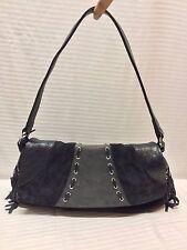 L. Credi Italy Blue Leather Shoulder Bag, Purse