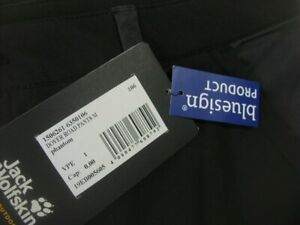 Jack Wolfskin Dover Road Pants size EU106 measured black & grey OUTDOOR trousers