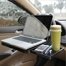 Car Laptop Desk Computer Fold Down Shelf Support Steering Wheel With Cup Holder