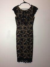 EUC Abs By Allen Schwartz Black Lace Dress Size Medium