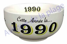Bol année de naissance 1990 en grès - idée cadeau anniversaire neuf