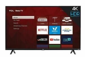 TCL Roku 4K HDR 2160p LED TV 50 inch 50S425 (Smart TV)