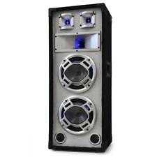 (B-WARE) DJ PA 3 WEGE HIFI STAND LAUTSPRECHER BOX SUBWOOFER LED SOUND TOWER BASS