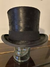 Vintage HERBERT JOHNSON Silk Top Hat, Calf Skin Lined ,Excellent Condition Box