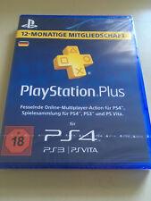 PlayStation PSN Plus 365 Tage 12 Monate 1 Jahr Mitgliedschaft PS3 PS4 - DE