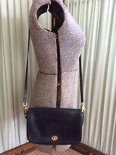 Vintage Coach Black Leather Classic Shoulder Cross Body Bag USA 9755